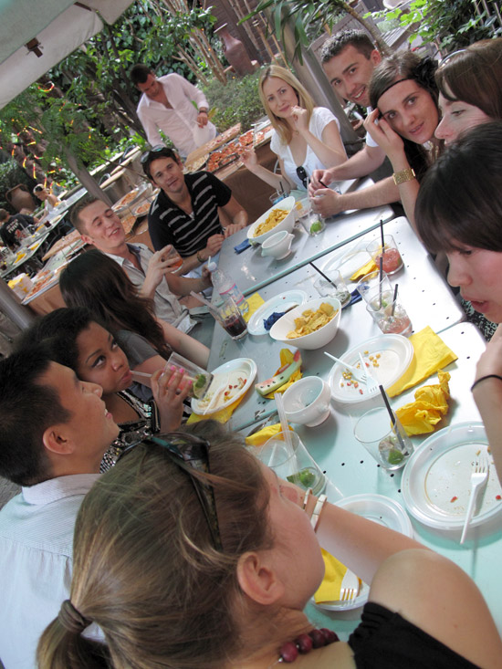 """Students were hosted at an end-of-the-first-day """"Apperitivi"""",  a casual mingling party with food and drinks so the students could get to know one another."""