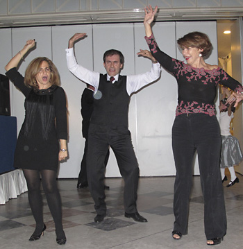 ANASTASIA, EMANUELE & ENCARNA - From Greece, Spain. We shared a table and the dance floor at the Thanksgiving Dinner.