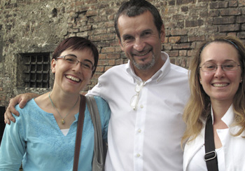 EVELINA, BRUNELL & GLENDA - From Italy. These are the three I work most closely with at NABA.