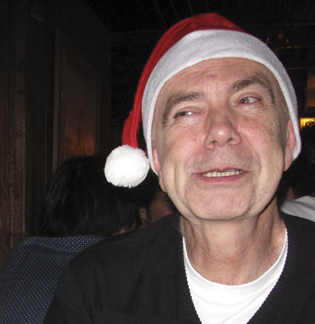 "JAN - From Norway. He got talked into wearing a ""Babbo Natale"" hat at the language school's Christmas party."