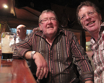 NORM & JOE - Irish. My Guinness drinkin' buddies in the far northern reaches of Ireland.